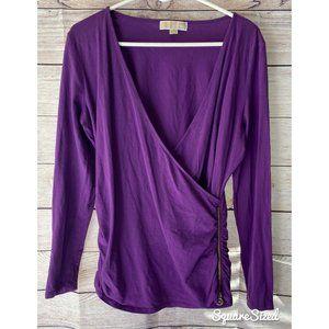Purple Michael Kors wrap shirt w/ side zipper XL